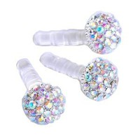 1pc 3.5mm Ab Crystal Ball Anti Dust Plug Stopper for Iphone4/4s Cellphone