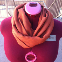Warm & Thick Pumpkin Infinity Scarf