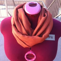 Warm &amp; Thick Pumpkin Infinity Scarf