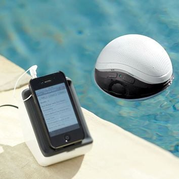 Audio Unlimited?- poolPOD 900MHz Wireless Floating Waterproof Speaker | Pottery Barn