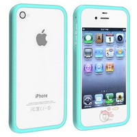 Everydaysource Shiny Blue TPU Rubber Bumper Case for Apple iPhone 4 / 4S