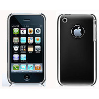 iPhone 3G 3GS Hard Plastic Case with Chrome Finish | Overstock.com