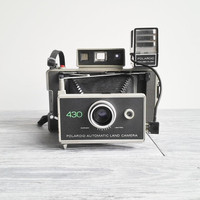 Vintage 1970's Polaroid Automatic Land Camera 430 with Case