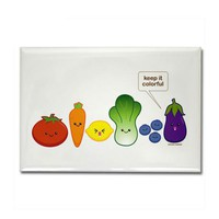 Keep It Colorful Rectangle Magnet by kimchikawaii- 459734563