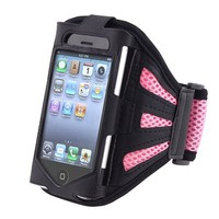 INSTEN Black/Pink Armband for Apple iPhone 4S