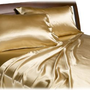 Amazon.com: Divatex Home Fashions Royal Opulence Satin Queen Sheet Set, Gold: Home &amp; Kitchen