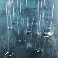 Etched Botanical glassware | My Sparrow