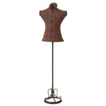 Unique Tall Metal Wicker Mannequin Stand