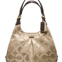 COACH MADISON OP ART SATEEN MAGGIE - Hobo Bags - Handbags & Accessories - Macy's