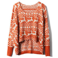 Oversized Batwing Sleeve Orange Jumper [NCSWQ0267] - &amp;#36;38.99 :
