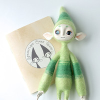 Mixed Media Art Doll, Sproutling No. 5 - Gooseberry