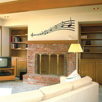 Music Notes Wall Decal Vinyl Wall Art Removable Decals