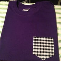 Medium purple with houndstooth frocket