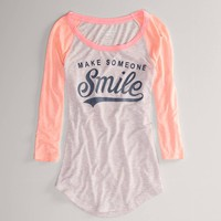 AE Smile Baseball T | American Eagle Outfitters