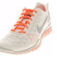 Nike Free TR Fit 2 - Womens - Metallic Summit White/Bright Mango/Pure Platinum