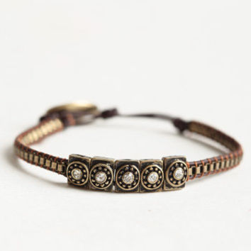 Aztec Luck Bracelet - $12.00 : ThreadSence, Women's Indie & Bohemian Clothing, Dresses, & Accessories