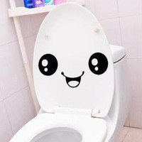 1PC Creative Smile Toilet Stick Paste DIY Furniture Decorative Wall Sticker