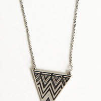 Basic Space Pewter Necklace