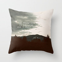 Muir: Mountain Throw Pillow by Leah Flores | Society6