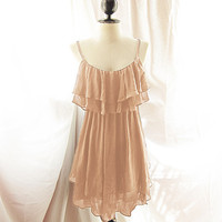 Marie Antoinette Chiffon Beige Dress Romantic by RiverOfRomansk