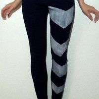 Blue Arrow Leggings by ThePetiteChouette on Etsy