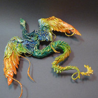 orange wing serpent by creaturesfromel on Etsy