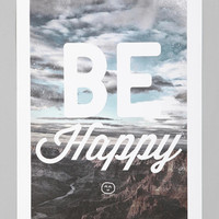 Zach Terrell For Society6 Be Happy Art Print