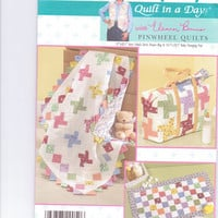 New Simplicity Pattern Quilt in a Day Eleanor Burns Pinwheel Quilt baby crib quilt diaper bag changing pad