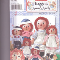 New Simplicity Pattern Classic Raggedy Ann and Andy Dolls and clothes 15 26 and 36 inch sizes