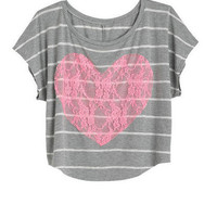 Lace Heart Tee