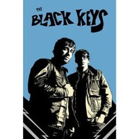 Amazon.com: (24x36) Black Keys - Blue Background Music Poster: Home & Kitchen