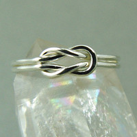 Silver Infinity Ring / Promise Ring / Square Knot Ring / Reef Knot Ring / Sailor's Knot Ring / Love Knot Ring / Wedding Ring / Nautical Ring