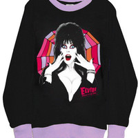 Elvira Gothic Goddess Lilac Two Tone Tshirt Sweatshirt Top