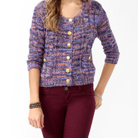 Multi-Colored Cable Knit Cardigan | FOREVER21 - 2019571781