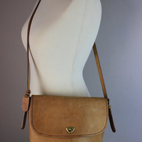 Vintage Guess Brown Leather Satchel Bag