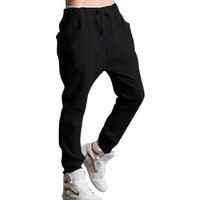Amazon.com: Allegra K Mens Casual NEW Stylish Drawstring Elastic Waist Baggy Straight Pants Trousers Black W31: Clothing