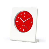 Punkt - Jasper Morrison - White and Red Alarm Clock Ltd Ed | Panik Design
