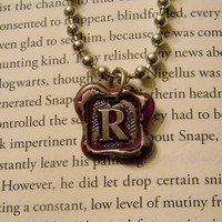 Ravenclaw House Wax Seal Pendant Necklace. Harry Potter Inspired. 18 Inch Chain. Ready To Ship.