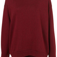 Basic Curve Hem Sweater - Jersey Tops  - Clothing