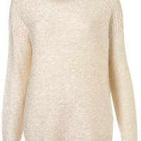 Knitted Textured Stitch Jumper - Knitwear  - Clothing