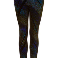 Galatic Glitter Velvet Leggings - Pants & Leggings  - Clothing