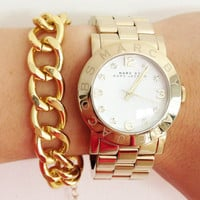 Gold Plated chunky chain Bracelet - 24k gold plated