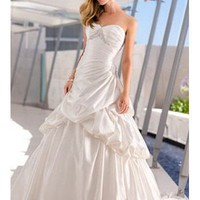 MS202 Custom made soft bridal satin wedding dress - Coral's Bridal