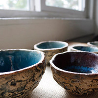 Ceramic Geode Nesting Bowls by Stacie013 on Etsy