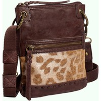 The SAK Pax Mini Cross Body,Brown Leopard,One Size