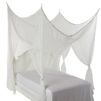 Heavenly 4 Post Bed Canopy, White