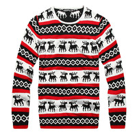 Unisex Men&#x27;s Women&#x27;s Knitwear Xmas Christmas Style Designer Top Pullover Sweater