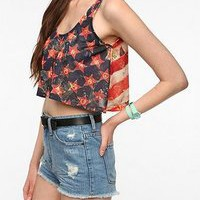 NEW Obey American Super Crop Tank Top L $64 Urban Outfitters NastyGal