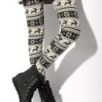 Winter Fashion Mix-Matched Deer Patterns Imitated Cashmere Leggings China Wholesale - Sammydress.com