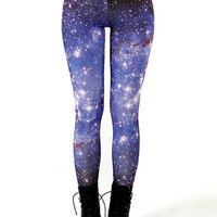 GALAXY PRINT LEGGINGS (Star Clusters)